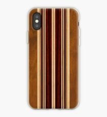 Nalu Lua Faux Koa Wood Hawaiian Surfboard iPhone Case