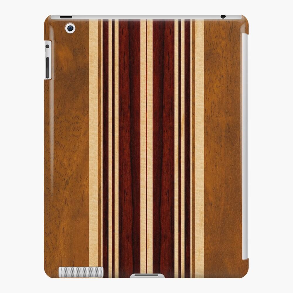 Tabla de surf hawaiana Nalu Lua Faux Koa Wood Funda y vinilo para iPad