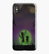 Warriors Landscapes - Rick and Morty iPhone Case/Skin