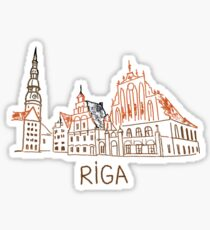 Riga Latvia Sticker