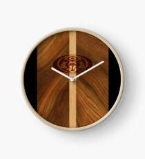 Rocky Point Hawaiian Faux Wood Surfboard - Black Clock