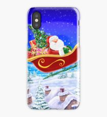 SANTA OVER THE ROOF iPhone Case/Skin