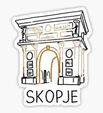 Skopje Macedonia Sticker