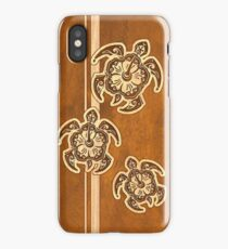 Uhane Honu Faux Wood Hawaiian Turtle iPhone Case