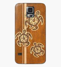 Funda/vinilo para Samsung Galaxy Uhane Honu Faux Wood Hawaiian Turtle