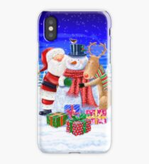 SANTA WITH XMAS CHUMS iPhone Case/Skin