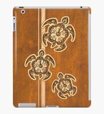 Uhane Honu Faux Holz Hawaii Schildkröte iPad-Hülle & Klebefolie