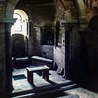 Interior of Baptistry St Jean Poitiers France 19840824 0019P  by Fred Mitchell