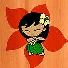 Aloha Honeys Hawaiian Hibiscus Hula Girl - Papaya by DriveIndustries
