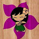 Aloha Honeys Hawaiian Hibiscus Hula Girl - Violet by DriveIndustries