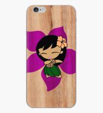 Aloha Honeys Hawaiian Hibiscus Hula Girl - Violet iPhone Case