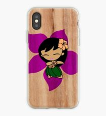 Aloha Honeys Hawaiian Hibiscus Hula Girl - Violet iPhone Case