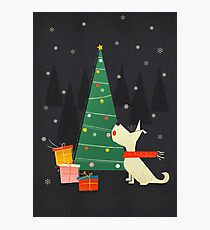 White Christmas Westie Photographic Print