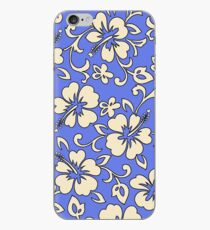 Malia Hawaiian Hibiscus Aloha Shirt Print - Periwinkle iPhone Case