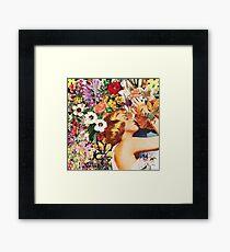 Floral Bed Framed Print