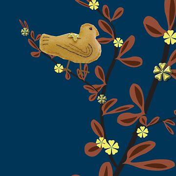 Summer Bird Digital Collage by lilypoh