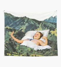 Rising Mountain Wall Tapestry