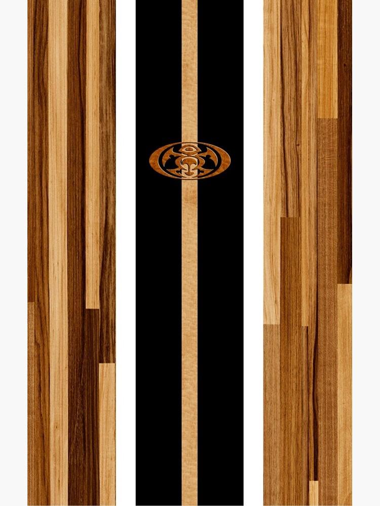 Tabla de surf de madera sintética con diseño hawaiano Rocky Point - Negro de DriveIndustries