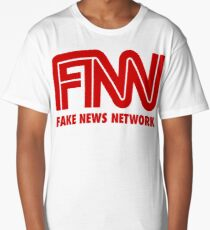 Funny FNN Fake News Network Shirt Long T-Shirt