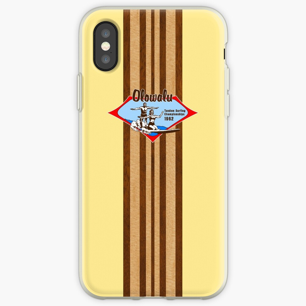 Tandem Surfing Hawaiian Vintage Surf Design  - Yellow iPhone Cases & Covers