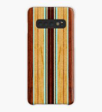 Funda/vinilo para Samsung Galaxy Tabla de surf Hawaiian Nalu Hou Faux Koa Wood - Aqua