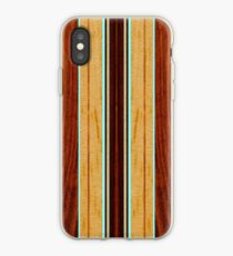 Nalu Hou Faux Koa Holz Hawaii Surfbrett - Aqua iPhone-Hülle & Cover