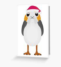 Christmas Porg Greeting Card