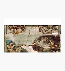 Creation of Adam by Michelangelo Photographic Print