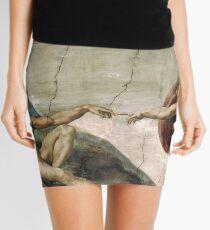 Creation of Adam by Michelangelo Mini Skirt