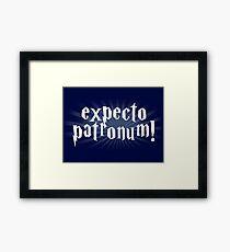 expecto patronum hallows Framed Print