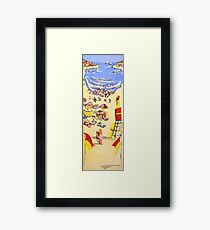 Between the flags Framed Print
