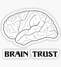 Brain Trust T-Shirt Sticker