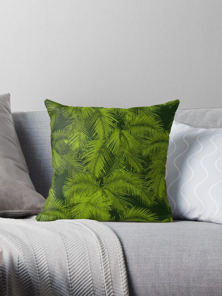 Makana Palms Hawaiian Tropical Print - Green by DriveIndustries