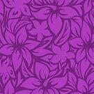 Moloaa Bay Hawaiian Hibiscus Aloha Shirt Print - Violet by DriveIndustries