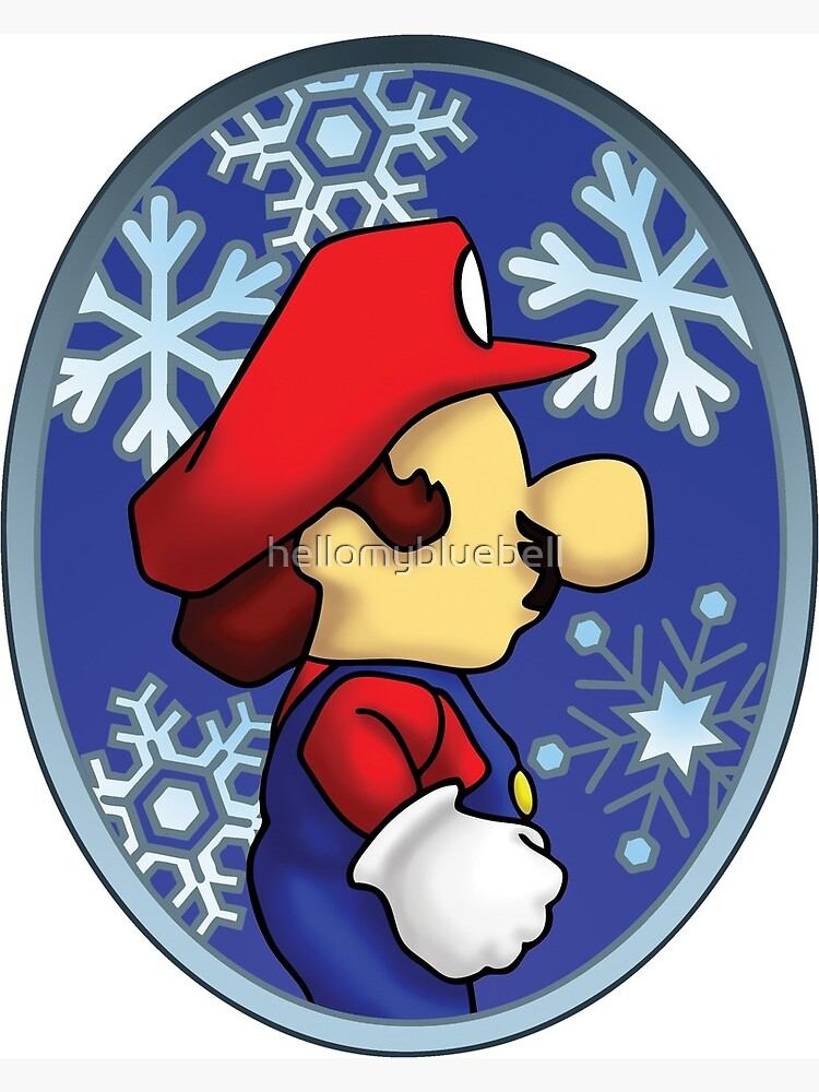 Super Mario Christmas Stocking.Super Mario Christmas Stained Glass Window Metal Print