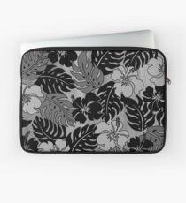 Huakini Bay Hawaiian Hibiscus Vintage Floral - Gray Laptop Sleeve