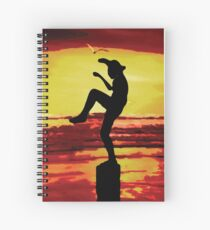 The Crane Kick Karate Kid Spiral Notebook