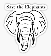 Save the Elephants Sticker