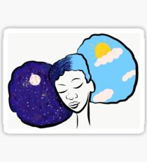 Day and Night Girl Sticker