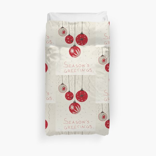 Baubles, by Enza Stellato Duvet Cover