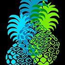 Momona Hawaiian Tropical Pineapple - Turq, Blue & Lime by DriveIndustries