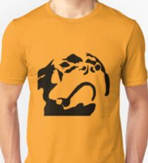 Dog Face Stencil - Black Unisex T-Shirt