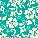 Kapalua Pareau Hawaiian Hibiscus - Wintergreen by DriveIndustries