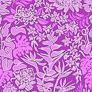 Kauai Morning Hawaiian Protea Floral - Violet by DriveIndustries