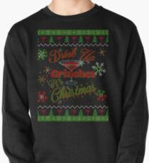 Drink Up Grinches - Martini - Faux Ugly Christmas Sweater Pullover
