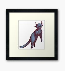 Floating Mixed Media Cat  Framed Print