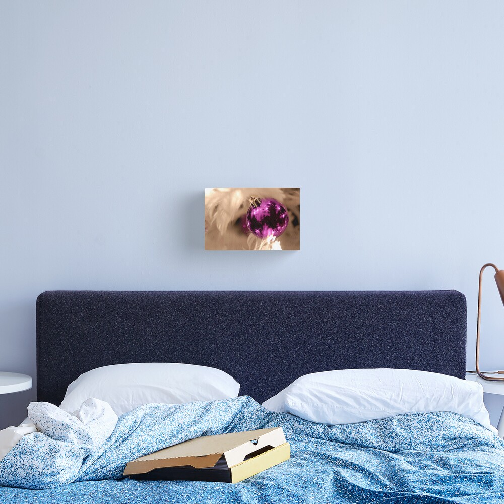 Purple & White Canvas Print