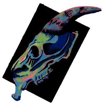 Retro Skull by bdesantisart