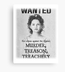 OUAT Snow White Wanted Poster Canvas Print