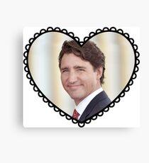 Justin Trudeau Heart Canvas Print